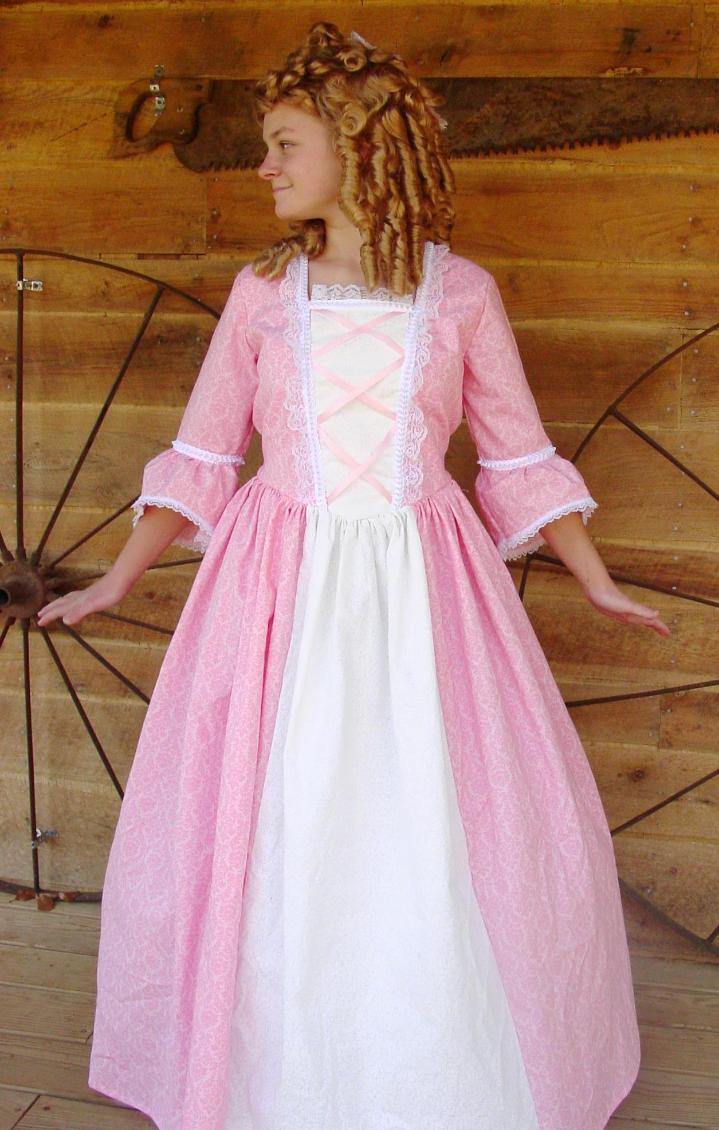 WeHaveCostumes KellysCostumes Modest Historical Pink Ball Gown